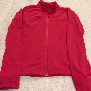 Lululemon pink zip front jacket 10